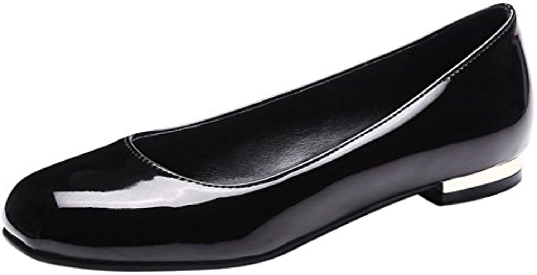 RAZAMAZA Mujer Comodo Cerrado Plano Zapatos sin Cordones Bailarina