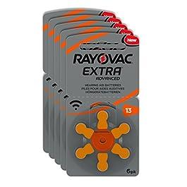 Rayovac Extra Advanced Batterie Acustiche Zinco Aria, Formato 13 Value Pack da 30 Batterie, Arancione