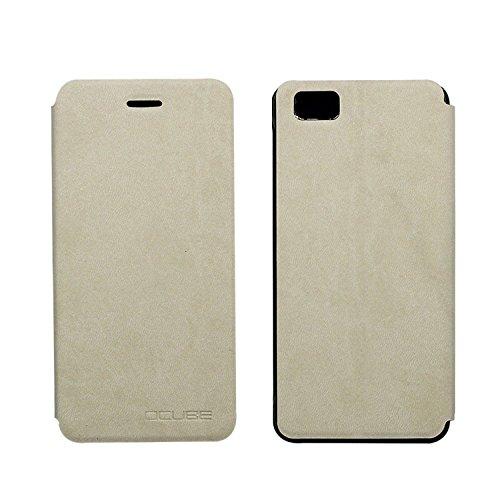 Owbb Hülle für Ulefone Future Handyhülle Hard Plastik PU Ledertasche Flip Cover Tasche Hülle Case mit Stand Function Retro Klapphülle Design Weiß