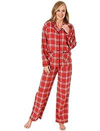 aae1064faf Normann Copenhagen Damen Flanell Pyjama Langarm Karodesign - 271 201 95 001