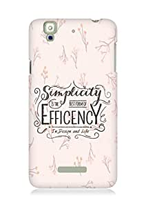 Amez Simplicity is the best form of Efficency Back Cover For YU Yureka