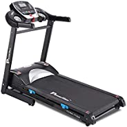 PowerMax Fitness Unisex Adult TDM-115S (2.0 Hp), Semi Auto Lubrication, Motorized Treadmill For Home Fitness W