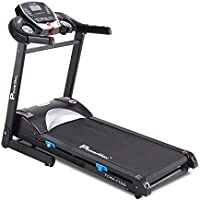 PowerMax Fitness Unisex Adult TDM-115S (2.0 Hp), Semi Auto Lubrication, Motorized Treadmill For Home Fitness With Bmi -...