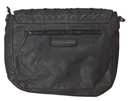 Taschendieb Wien Sac bandoulière cuir 31 cm schwarz