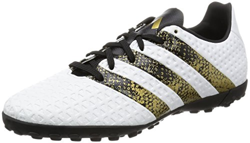 Adidas Ace 16.4 Tf - Scarpe da Calcio Uomo, Bianco (Ftwr White/Core Black/Gold Met), 43 1/3 EU