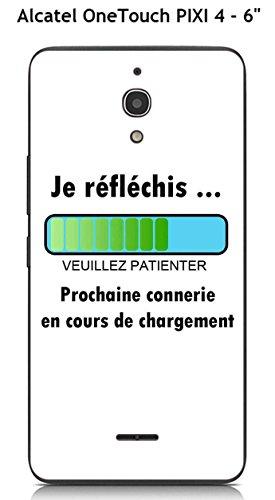 Pixi-gel ('Schutzhülle TPU Gel weich Alcatel OneTouch Pixi 4-6Design Botschaft Ich© Flà ¼ © Chis, Text schwarz)