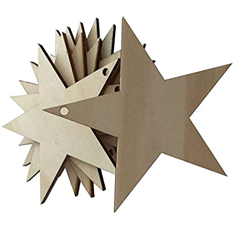 25 pcs Wooden MDF Star Shapes Craft Blank wedding Plaque