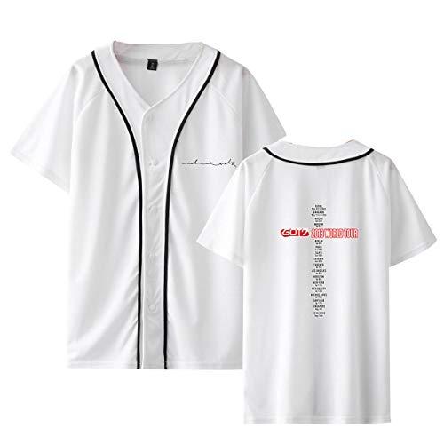 CTOOO 2018 Nuevo Got7 Combinación Versión Coreana Camisa De Béisbol De Manga Corta Sección Delgada para Hombres Y Mujeres XXS-XXXL