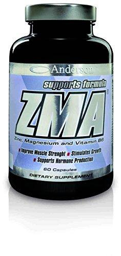 Integratore Anderson ZMA Zinco/Magnesio/Vitamina B6 Stimola GH