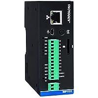 Controlador de lógica programable (PLC) – Ethernet, RS485, MQTT, MODBUS, 4 DI, 4 DO, 2 AI, IO extensión hasta 196 puntos, FBD y escalera lógica soporte – MP110E