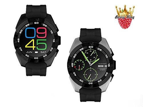 BerryKing-DailyGo-2-Smartwatch-Bluetooth-Nachrichten-Kamera-Herzfrequenz-Musik-Fr-Android-iOS-alle-Informationen-am-Handgelenk-iPhone-Samsung-HTC-LG-Huawai