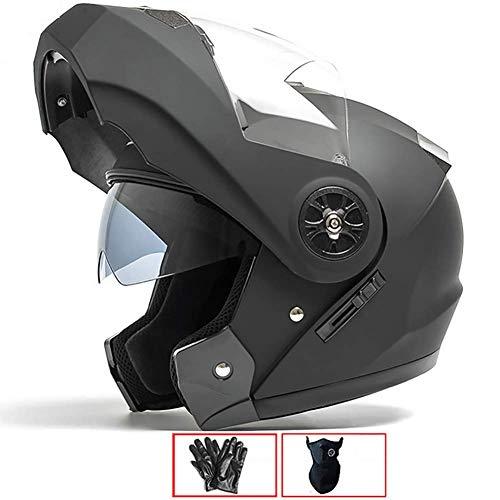 LALEO Casco Moto Modular Integral Casco Moto Abierto