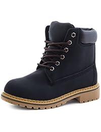 Trendige Unisex Damen Herren Schnür Stiefeletten Stiefel Worker Boots -  auch in Übergrößen 1c9146b051