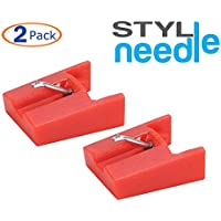 Stylineedle Diamond Stylus Replacement Phonograph Record Player Needle - 2 Pack - for ION ICT04RS and Crosley NP4