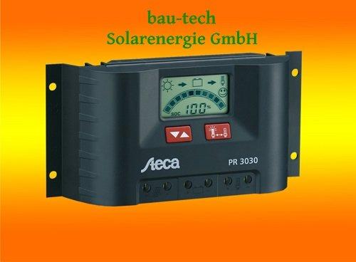 Steca PR3030 Solarladeregler mit LCD Display und Lastausgang für 12V Verbraucher bis 30A