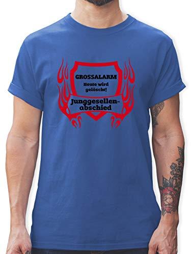 JGA Junggesellenabschied - Grossalarm - XL - Royalblau - L190 - Herren T-Shirt und Männer Tshirt