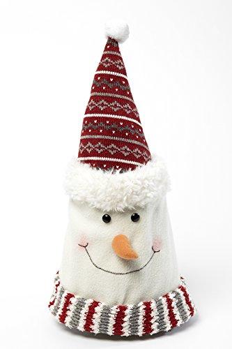 mann-Mütze - Weihnachtsmütze - für Kinder und Erwachsene - weicher Fleece Stoff - rot, grau, weiß (Erwachsene Weiche Schneemann Kostüme)