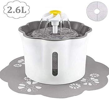 KOOPAO Distributeur de fontaines à Eau pour Chats, filtres de Rechange pour Fontaine Automatique de 2,6 litres