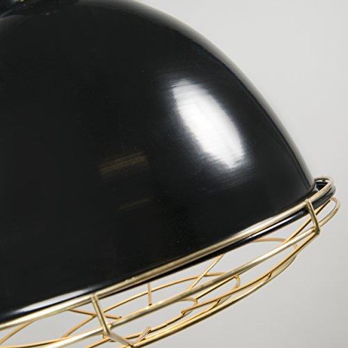 QAZQA Modern 2-flammiger-Set Pendelleuchte / Pendellampe / Hängelampe / Lampe / Leuchte Strijp O schwarz / Innenbeleuchtung / Wohnzimmer / Schlafzimmer / Küche Metall Rund LED geeignet E27 Max. 2 x 40 - 8