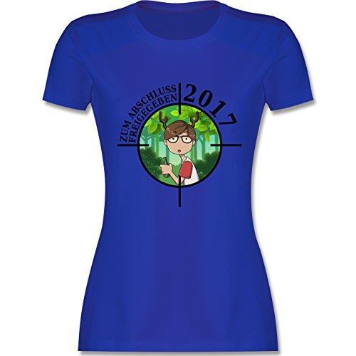 Abi & Abschluss - Zum Abschluss freigegeben 2017 - Junge - tailliertes Premium T-Shirt mit Rundhalsausschnitt für Damen Royalblau