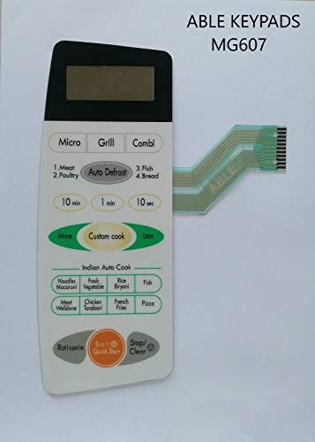 ABLE MG607 Microwave Oven Membrane Keypad MG607APR