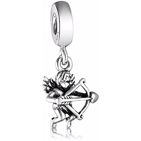 Cupido Amore Freccia San Valentino argento Sterling, adatto per bracciali collane europei ciondolo - Cupido Amore Charm