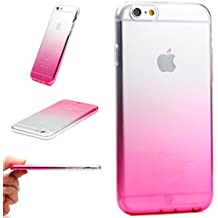 Funda iPhone 6 Plus / 6s Plus , BASEUS Arcoiris Smartphone Móvil Cubierta Flexible Anticaída Apple iPhone 6 Plus / 6s Plus Carcasa Bumper Fucsia Degradado