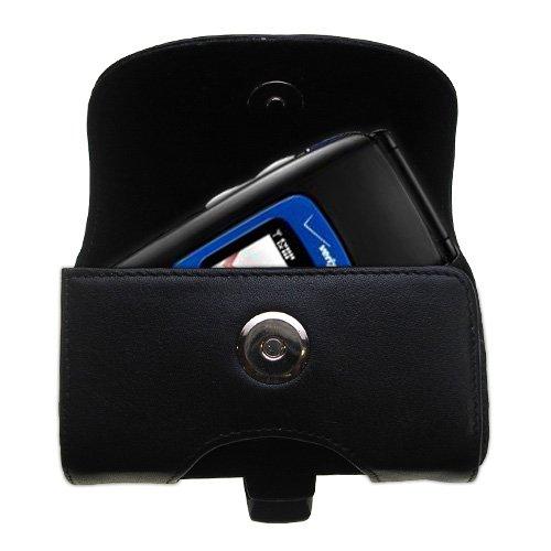Verizon Wireless Coupe (Gürtel Ledertasche Schwarz mit abnehmbaren Clip und Gürtelschlaufe für den Verizon Wireless Coupe)