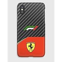 F1 carbon Ferrari, iPhone cas XS, XS Max, XR, X, 8, 8+, 7, 7+, 6S, 6, 6S+, 6+, 5C, 5, 5S, 5SE, 4S, 4,