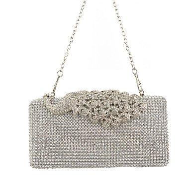 Frauen PU-formalen/Event/Party/Hochzeit Abend Tasche / Geldbeutel / schimmernden Diamanten Hand Tasche / Strass/Pfauen/Kupplung/Vogel Golden