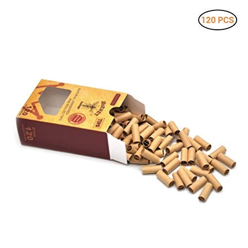 Hihey 120x Hornet Praktische Pre Rolled Natürliche Unraffinierte Zigarettenfilter Rolling Paper Tips 7MM Zigarettenpapier