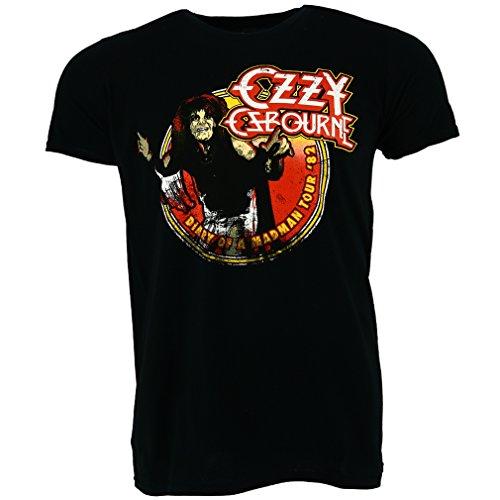Ozzy Osbourne Diary of a Madman Tour 1982 T-shirt Offiziell Lizensiert Musik (1982 T-shirt)