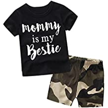 SMARTLADY Bebé Niños Camisetas manga corta y pantalones cortos Ropa