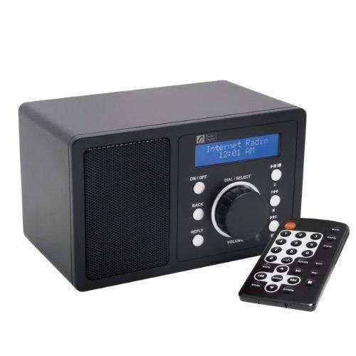 Ocean Digital WR200 Nero di Wi - Fi WLAN Internet Radio Reveicer Desktop Media Music Player LCD schermata-