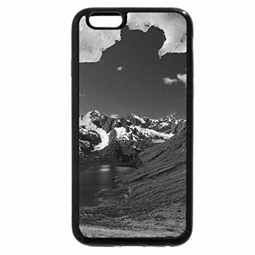 iPhone 6S Case, iPhone 6 Case (Black & White) - Fiordland National Park, Glacier, South Island, New Zealand (National Park Fiordland)