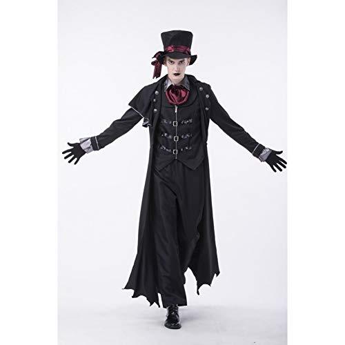MHPY HalloweenCostumi da Coppia di vampiri di Halloween Costumi da Sangue sanguinanti da Uomo Costumi da Donna Steampunk Uniformi da Vampiro Kit per la Contessa di Sangue