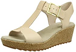 Clarks Womens Kamara Kiki Nude Leather Loafers and Moccasins - 4.5 UK/India (37.5 EU)