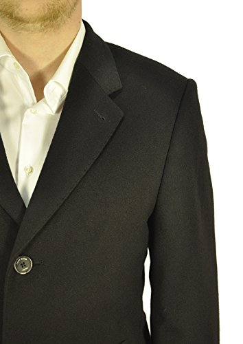 Michaelax-Fashion-Trade - Manteau - Uni - Manches Longues - Homme Noir - Noir