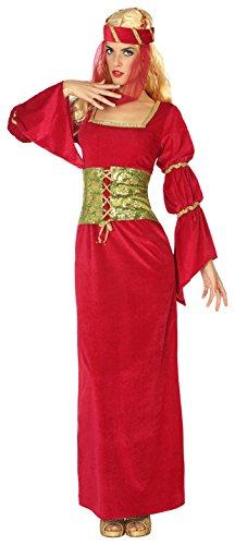 Atosa-38810 Disfraz Dama Medieval, Color Rojo, XS-S (38810)