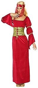 Atosa-38812 Disfraz Dama Medieval, Color Rojo, M-L (38812)