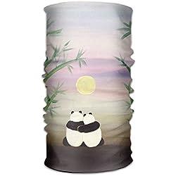 Panda Love - Bufanda de Microfibra de Secado rápido, con Capucha y asa Supersuave, Unisex