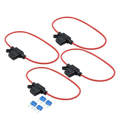 rouge et noir avec un porte fusible 8/mm batteries et dautres syst/èmes pour panneaux solaires fusible 60/A et cosses /à anneau C/âble dextension c/œur simple 3/m 16/mm/²