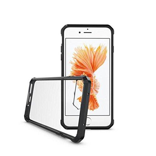 Housse AVIDET pour étuis téléphonique iPhone 8  iPhone8 Étuis transparents pour TPU + Étui en acrylique pour Fundas iPhone 8  iPhone8 (Transparent) Noir