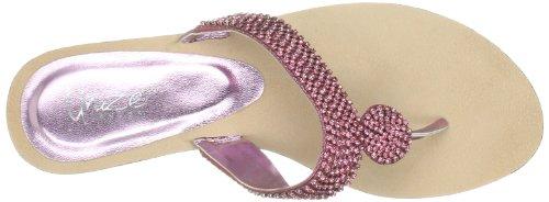 Unze Evening Sandals, Damen Sandalen Pink (L18579W)
