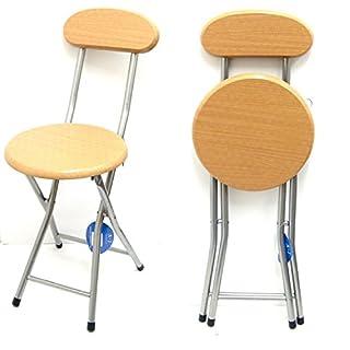 ANZ Children's Folding High Bar Chair Kids Padded Stools Kitchen Party Breakfast New (Beechwood Junior Stool)