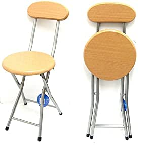 Children S Folding High Bar Chair Kids Padded Stools