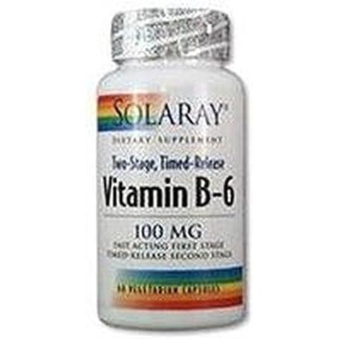 Vitamina B-6 60 cápsulas de 50 mg de Solaray