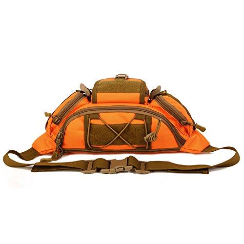 Tactical Hüfttasche Bauchtasche Militär Gürteltasche Reißverschluss für Outdoor Sport Trekking Wandern Orange