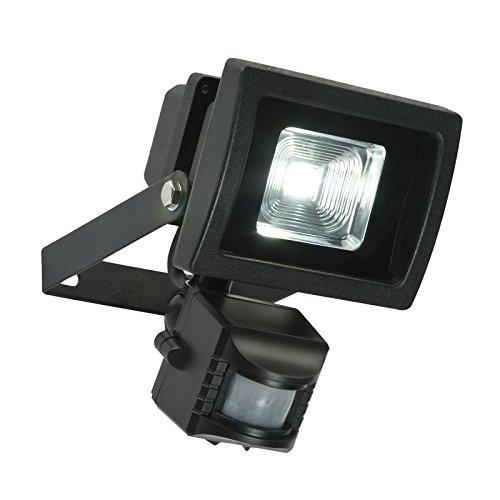 Luminaire extérieur mural à économie d'énergie avec sécurité automatique avec détecteur de mouvement PIR Blanc froid Ampoule LED 48742/Noir 240 W IP65