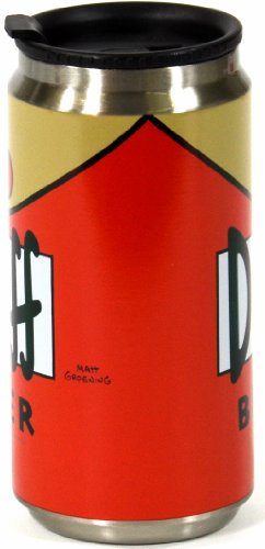 United-Labels-Simpsons-112184-Taza-termo-con-forma-de-lata-de-cerveza-Duff-280-ml-importado-de-Alemania